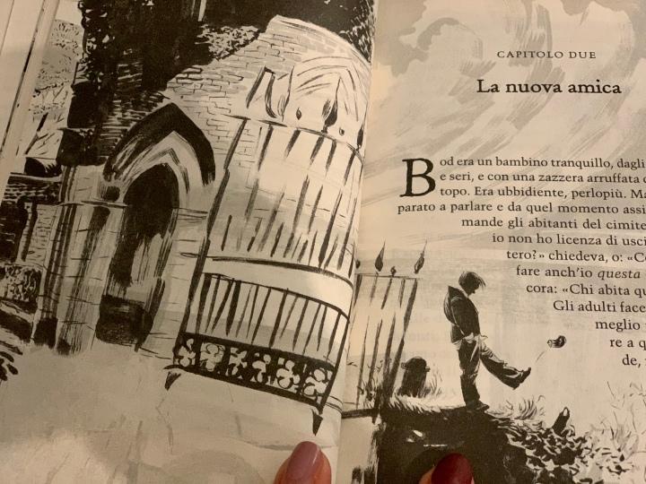 Neil Gaiman_Figlio del cimitero_una pagina con illustrazioni